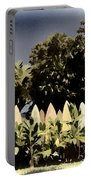Surfboard Fence - Old Postcard Portable Battery Charger