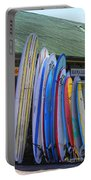 Surfboards At Hanalei Surf Portable Battery Charger