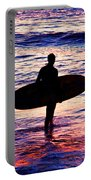 Surfer Silhouette Portable Battery Charger