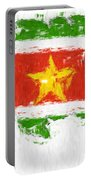 Suriname Painted Flag Map Portable Battery Charger