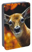 Whitetail Deer - Surprise Portable Battery Charger by Crista Forest