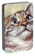 Surprised Kitty Portable Battery Charger