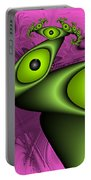 Surreal Green Eyes Fractal Portable Battery Charger