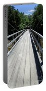 Suspension Bridge Over Pemigewasset River Nh Portable Battery Charger