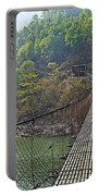 Suspension Bridge Over The Seti River In Nepal Portable Battery Charger