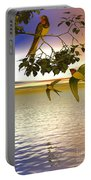 Swallows At Sunset Portable Battery Charger by Sandra Bauser Digital Art