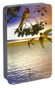 Swallows At Sunset Portable Battery Charger