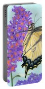 Swallowtail Butterfly And Butterfly Bush Portable Battery Charger
