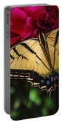 Swallowtail On Peony Portable Battery Charger