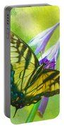 Swallowtail Visits Hosta Flowers Portable Battery Charger