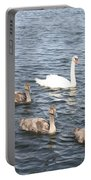 Swan And His Ducklings Portable Battery Charger