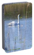 Swan At Derryallen Lough Portable Battery Charger