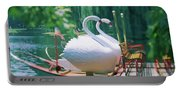 Swan Boats In A Lake, Boston Common Portable Battery Charger