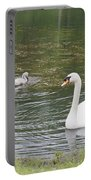Swan Family Portable Battery Charger by Teresa Mucha