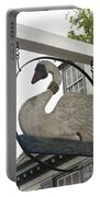 Swan Tavern Sign Yorktown Portable Battery Charger by Teresa Mucha