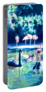 Swans And Flamingos Portable Battery Charger