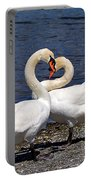 Swans Courting Portable Battery Charger