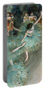 Swaying Dancer .dancer In Green Portable Battery Charger