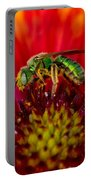 Sweat Bee Collecting Pollen Portable Battery Charger