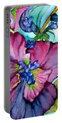Sweet And Wild In Turquoise And Pink Portable Battery Charger