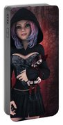 Sweet Betty With Gothic Doll Portable Battery Charger