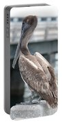 Sweet Brown Pelican - Digital Painting Portable Battery Charger