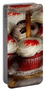 Sweet - Cupcake - Red Velvet Cupcakes  Portable Battery Charger by Mike Savad