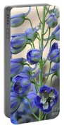 Sweet Delphinium Portable Battery Charger