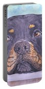 Rottweiler's Sweet Face Portable Battery Charger