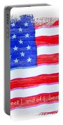 Sweet Land Of Liberty Portable Battery Charger