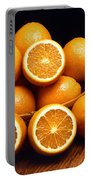 Sweet Oranges Whole And Halved Portable Battery Charger
