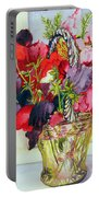 Sweet Peas In A Vase Portable Battery Charger