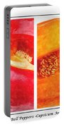 Sweet Pepper Watercolor Portable Battery Charger