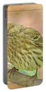 Sweet Pose Female Housefinch Portable Battery Charger