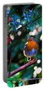 Sweet Robin Redbreast - Impressions Portable Battery Charger