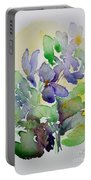 Sweet Violets Portable Battery Charger