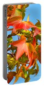 Sweetgum Leaves In Autumn Portable Battery Charger