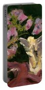 Sweetpeas And Silver Portable Battery Charger