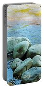 Swift River Rock Kancamagus Highway Nh Portable Battery Charger