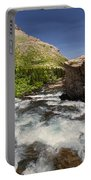 Swiftcurrent River At Many Glacier Portable Battery Charger