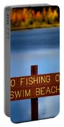 Swim Beach Sign Portable Battery Charger