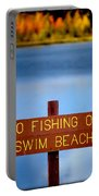 Swim Beach Sign L Portable Battery Charger