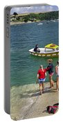 Swimmers On The Slipway - St Mawes Portable Battery Charger