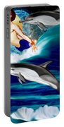 Swimming With Dolphins Portable Battery Charger