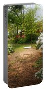 Swing In The Garden Portable Battery Charger by Sandy Keeton