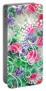 Swirl Dots By Jan Marvin Portable Battery Charger