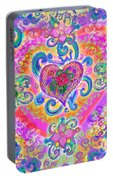 Swirley Heart Variant 1 Portable Battery Charger