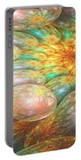 Swirling Oil Spill Portable Battery Charger