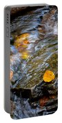 Swirling Stream Of Leaves  Portable Battery Charger