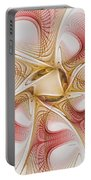 Swirls Of Red And Gold Portable Battery Charger